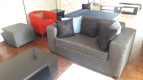 2 Seater Charcoal Grey