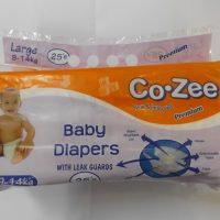 CO-ZEE BABY DIAPERS M 25S
