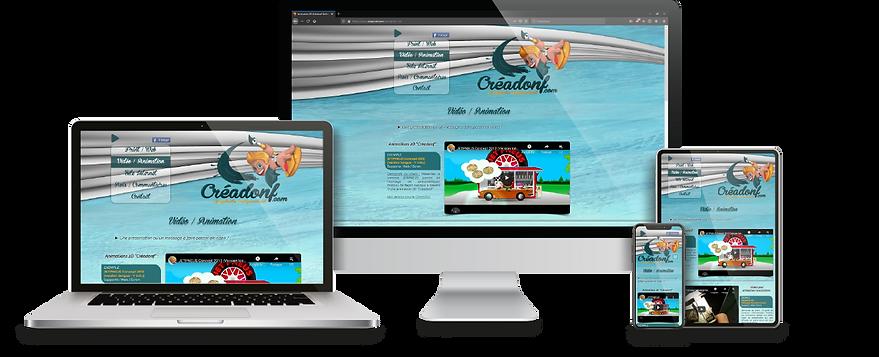 Site internet Créadonf Création Web Belfort Montbéliard
