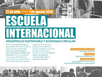 Escuela Internacional: Desarrollo Sustentable y Economía Circular en América Latina
