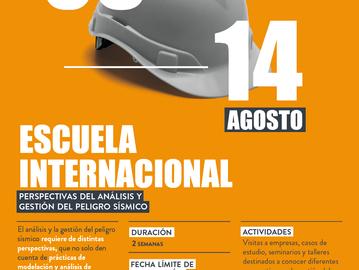 Escuela Internacional: Perspectivas del Análisis y Gestión del peligro sísmico