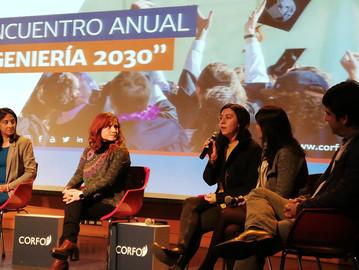 Excelente presentación de Carolina Bonacic en panel sobre Mujeres en Ingeniería