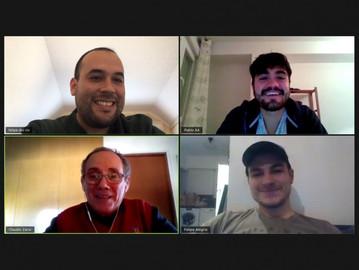 Alumnos en Santiago de Compostela se reúnen online con Vinculación con el Medio UdeC