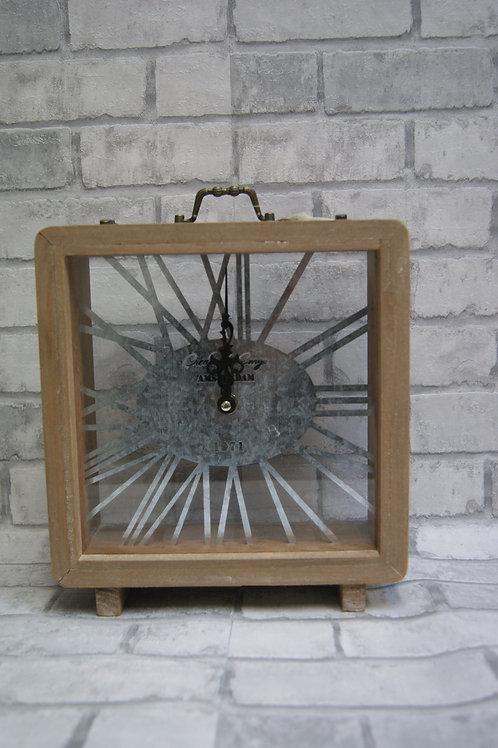 Hout/metalen klok