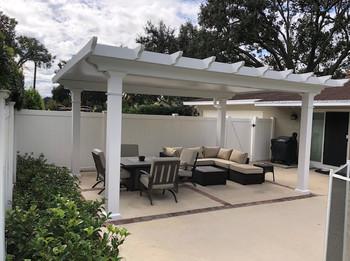 Ryan Critchet - White Fixed Roof Pergola