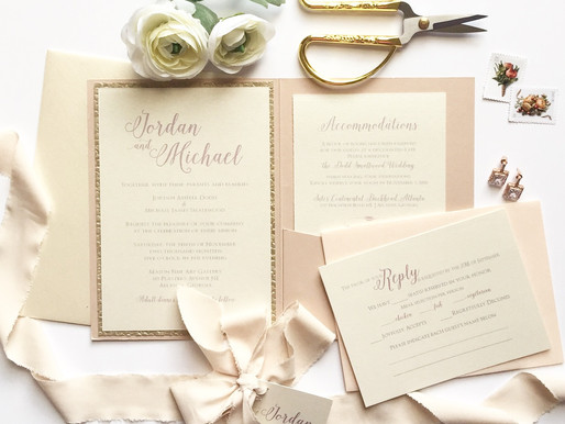 "Blush Stationery Suite ""Jordan"""