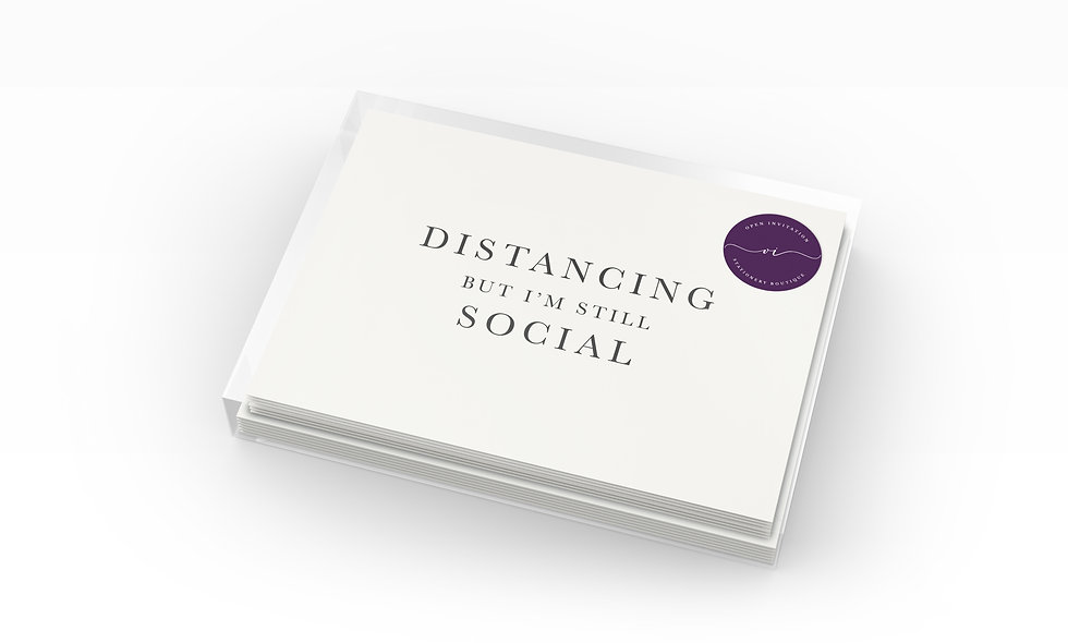 Social Distancing Notecards | Support