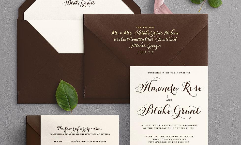 Amanda Rose Invitation Suite