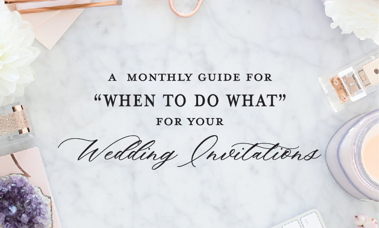 Stationery Guide Series | When to Order and Mail Wedding Invitations