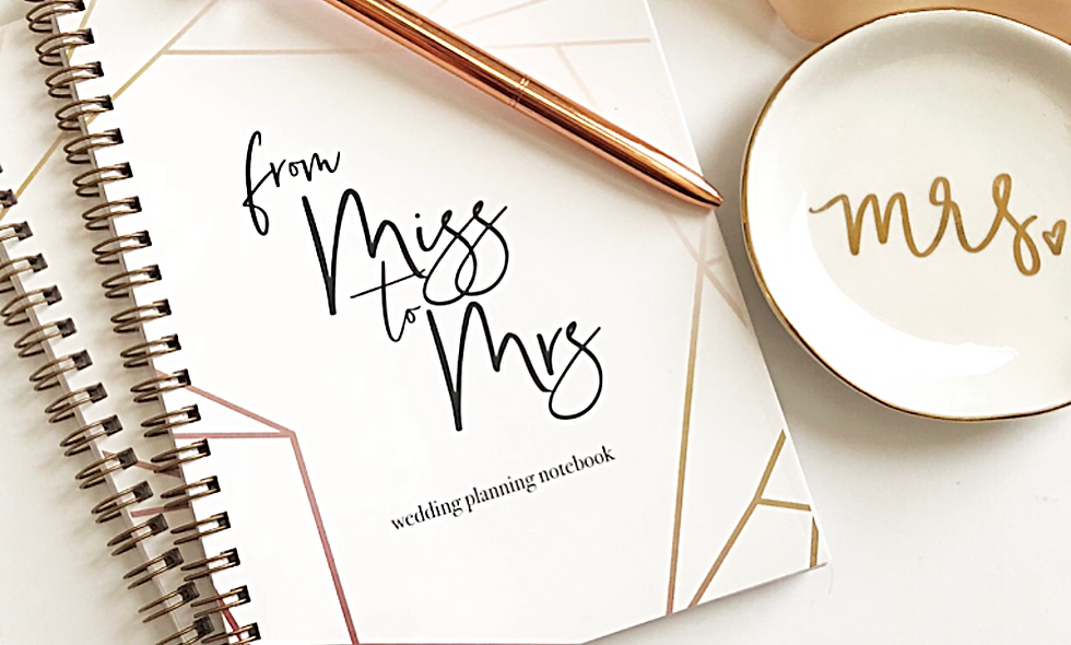 From Miss to Mrs Notebook