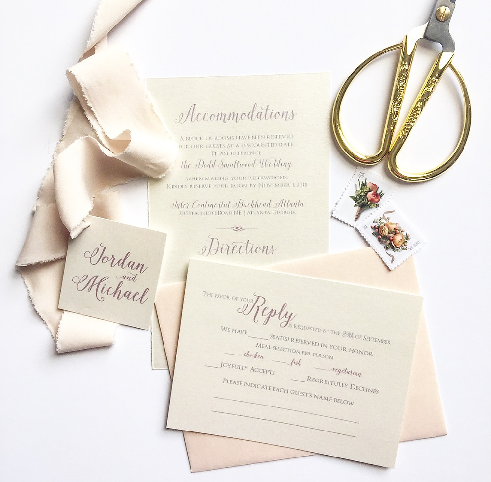 Open Invitation Stationery Boutique-Jordan Suite
