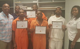 ManUp class at Wilcox County Jail, Cedric Wherry, Lydia Chatmon