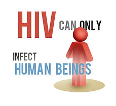 HIV can only infect human beings.