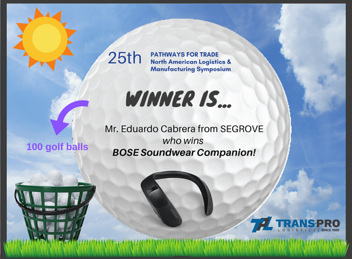 25th Pathways for Trade  Winner of our Contest...