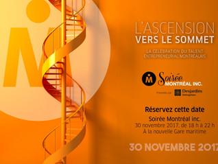 Fier de supporter la Fondation Montréal inc. qui célèbre le talent entrepreneurial Montréalais.