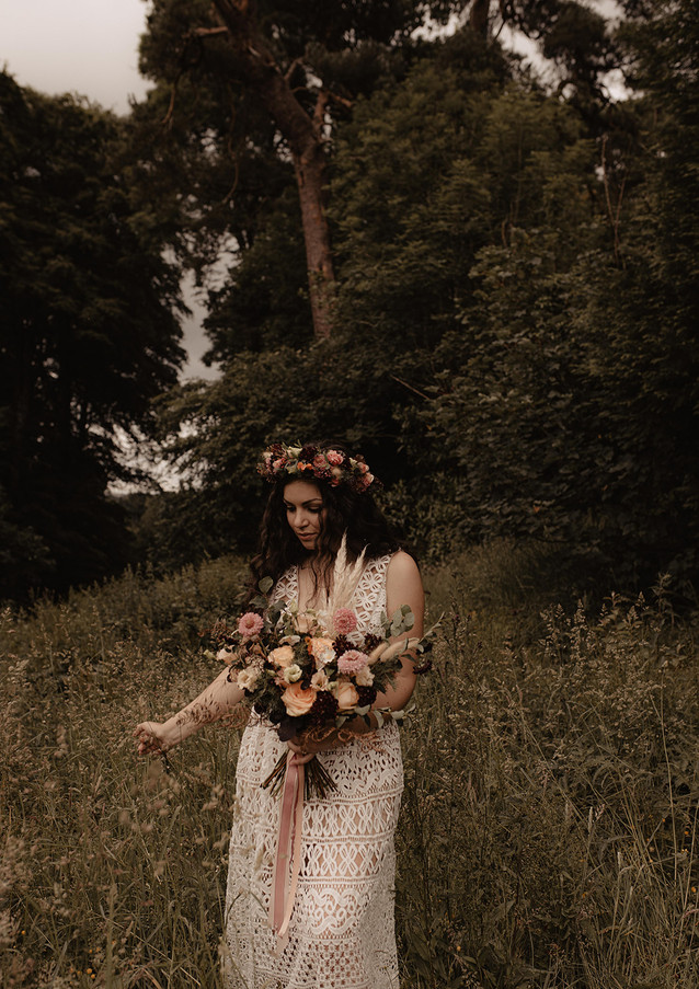 Boho bridal bouquet by wedding florist Emma Jane Floral Design