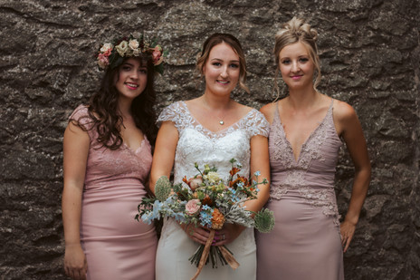 Wedding party flowers by Emma Jane Floral Design