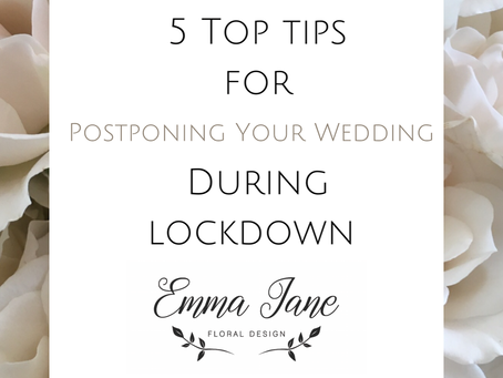 Postponing Your Wedding in Lockdown
