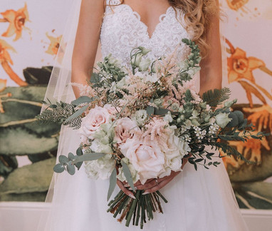 Blush and Ivory bridal bouquet by Emma Jane Floral Design
