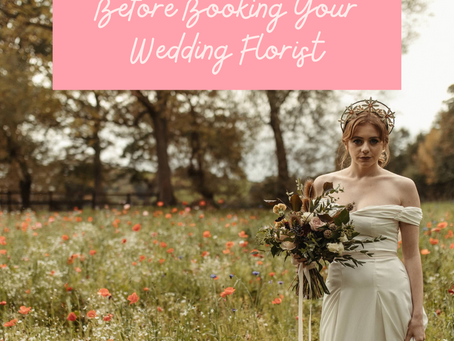 3 Things To Consider Before Booking Your Wedding Florist