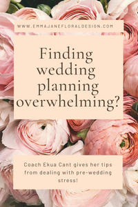 Finding wedding planning overwhelming? Ekua Can gives her tips for dealing with pre-wedding stress!