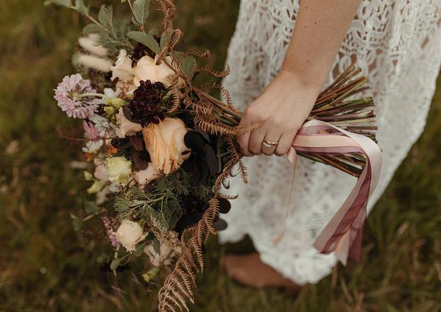 Modern boho wedding bouquet by Emma Jane Floral Design