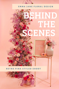 Cascading pink floral installation by Emma Jane Floral Design