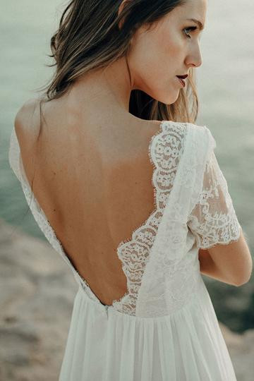 Luna Beach dress by Luna Bride, ethical and sustainable wedding dress.