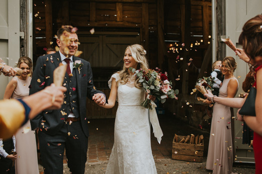 Get the perfect confetti shot with biodegradable confetti from Emma Jane Floral Design