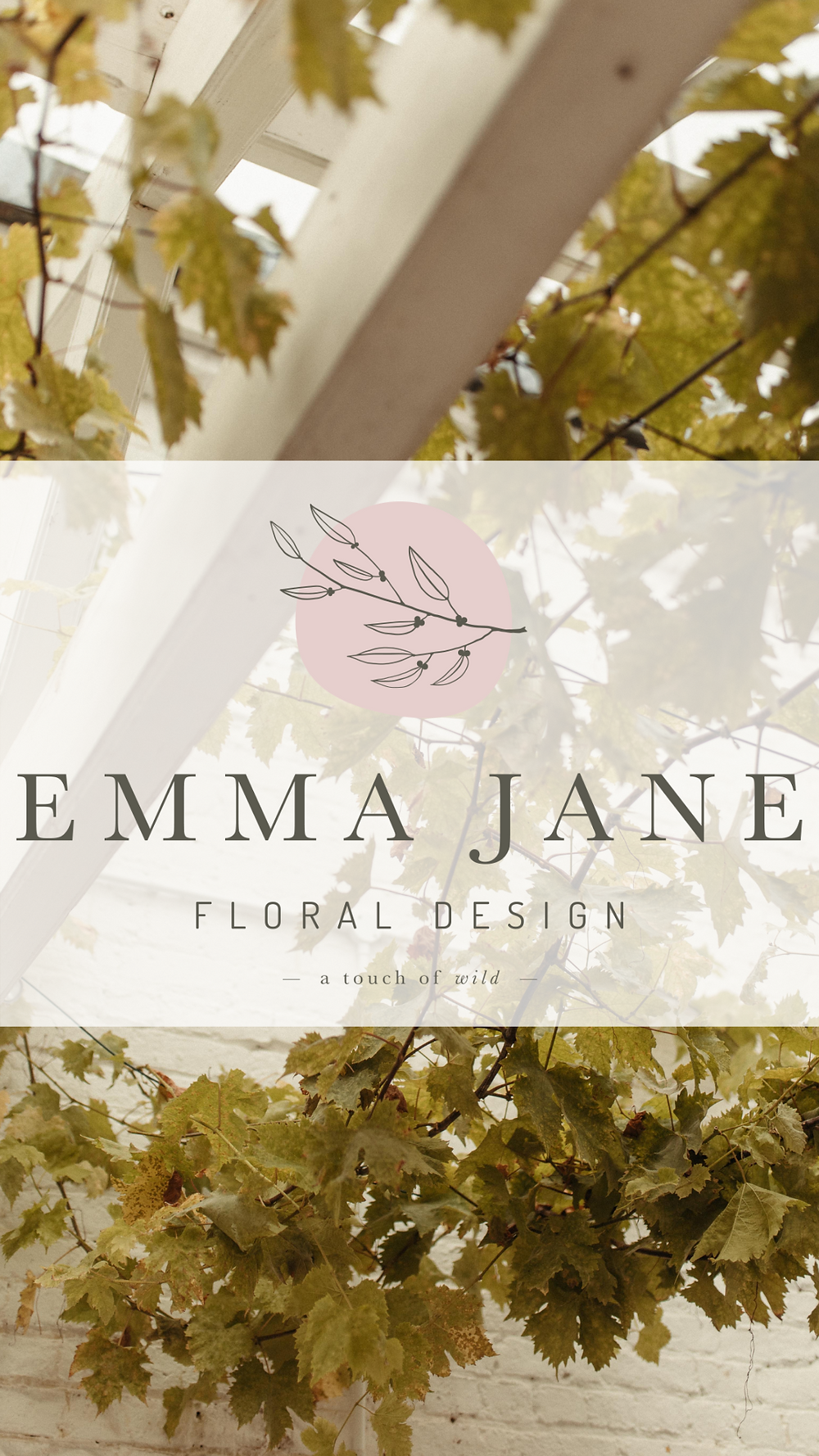 Emma Jane Floral Design with grape vine background