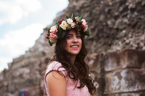 Statement flower crown by Emma Jane Floral Design