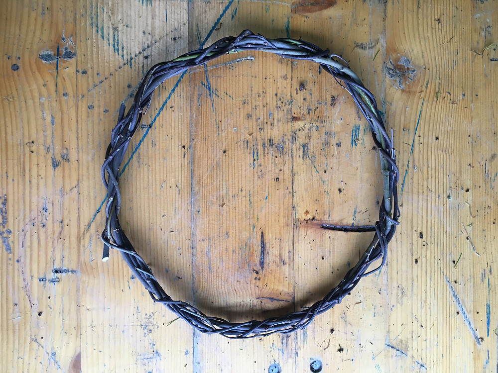 Willow wreath base by Emma Jane Floral Design