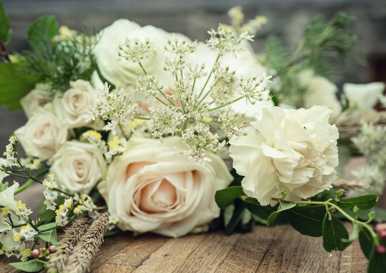 A modern classic bridal bouquet by Emma Jane Floral Design