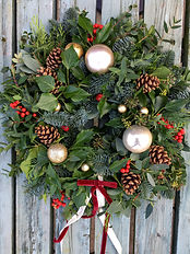 Bauble and berry fresh christmas wreath by Emma Jane Floral Design