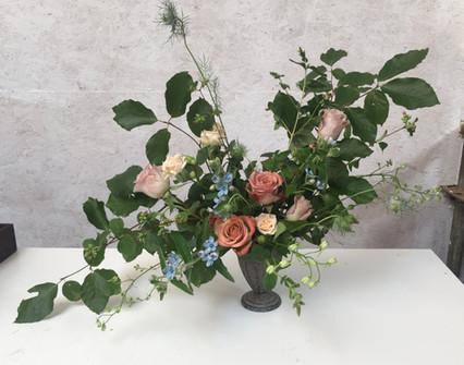 Plastic foam free wedding flower arrangement by Emma Jane Floral Design