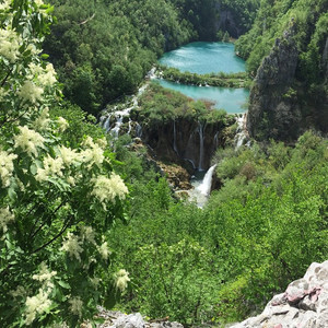 Emma Jane Floral Design visit lakes and waterfalls in Croatia