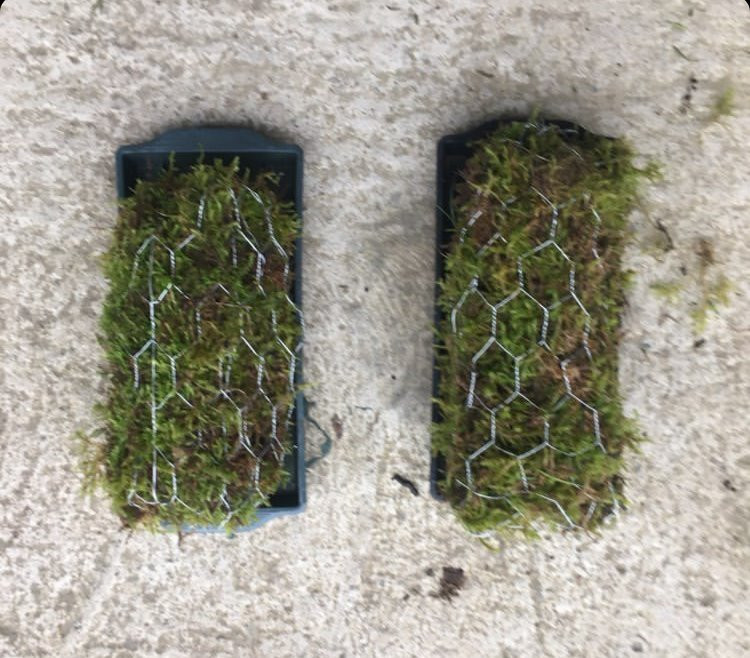 Moss bricks, an alternative mechanic for foam free floral arrangements and wedding flowers by Emma Jane Floral Design.