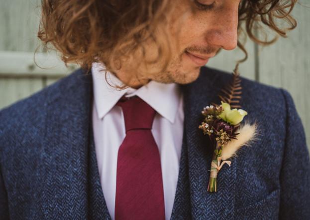 Autumnal buttonhole by Emma Jane Floral Design