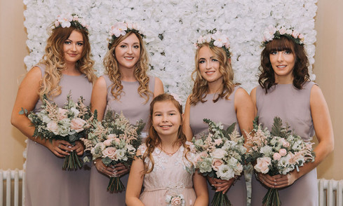 Pretty maids all in a row... Bridal party bouquets by Emma Jane Floral Design