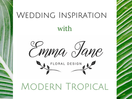 Mid Week Wedding Inspiration - Modern Tropical