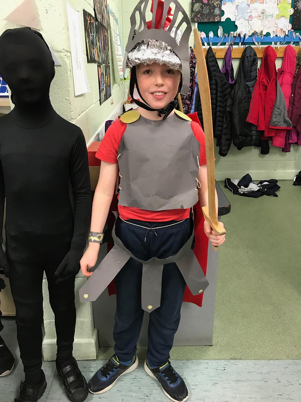 Rang 3- Éanna in his homemade outfit!!!  Fantastic -Maith thú!