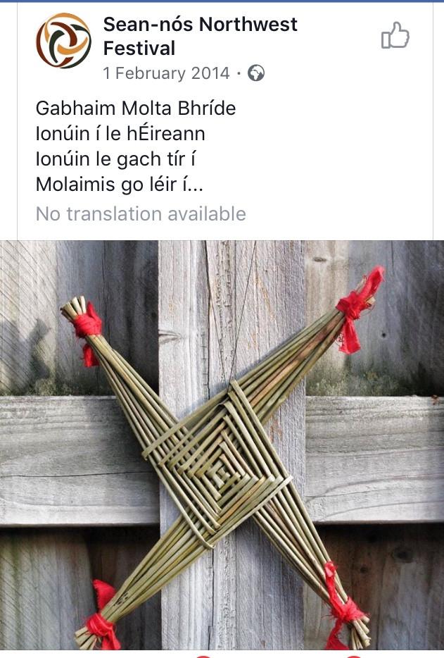 Beannachtaí na Féile Bríde oraibh.