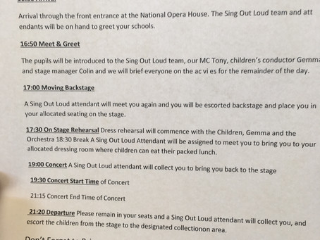 Information about the upcoming 'Sing Out Loud' Concert
