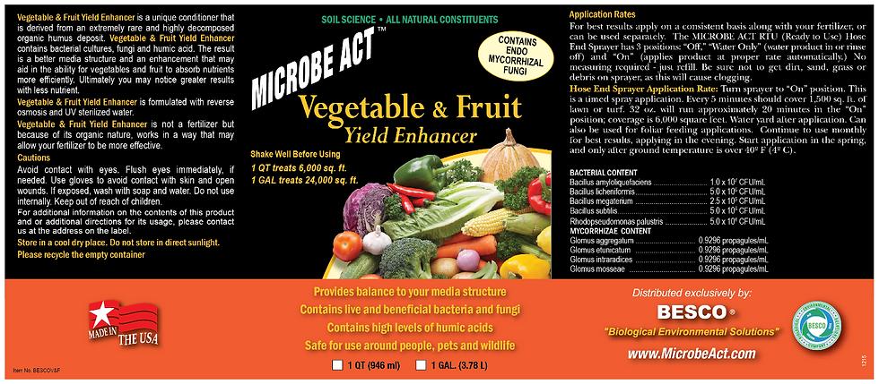 Vegetable & Fruit Yield Enhancer