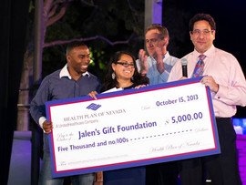 Health Plan of Nevada Donates $5,000 to Jalen's Gift Foundation!