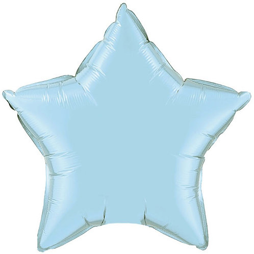 Blue Star Balloon with Angel/hearts