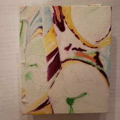 Another smaller journal using my handpainted fabric