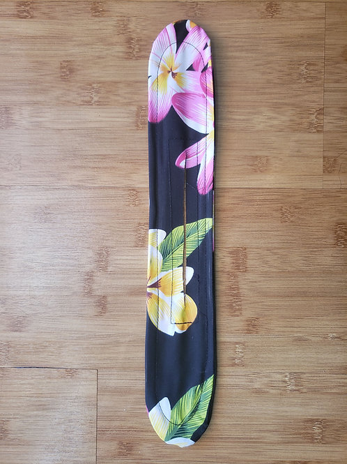Black Tropical with Pink/Yellow Plumeria