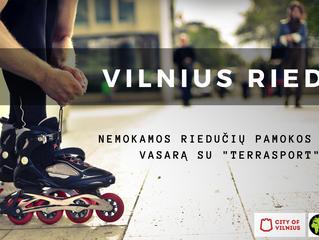 """#Vilnius rieda! Nemokamos """"Terrasport"""" riedučių pamokos pradedantiesiems vaikams ir suaugusiems"""