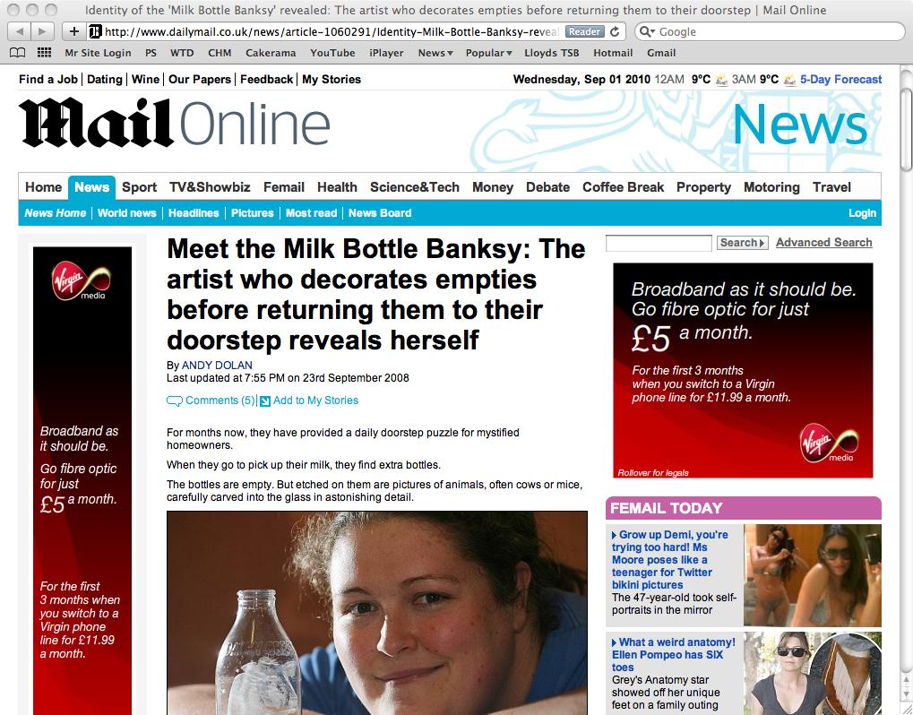 mail milk bottles